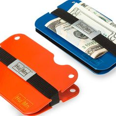 Men's wallet.  Holds cash and cards while protecting against e-theft