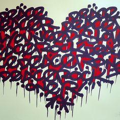 By #Deace #Coeur #Heart #StreetArt #Art #Paris #Paint #Artist #Graffiti #Graff #InstaPaint #ArtParis #Contemporain #Contemporary #Painting #Galery #Colors