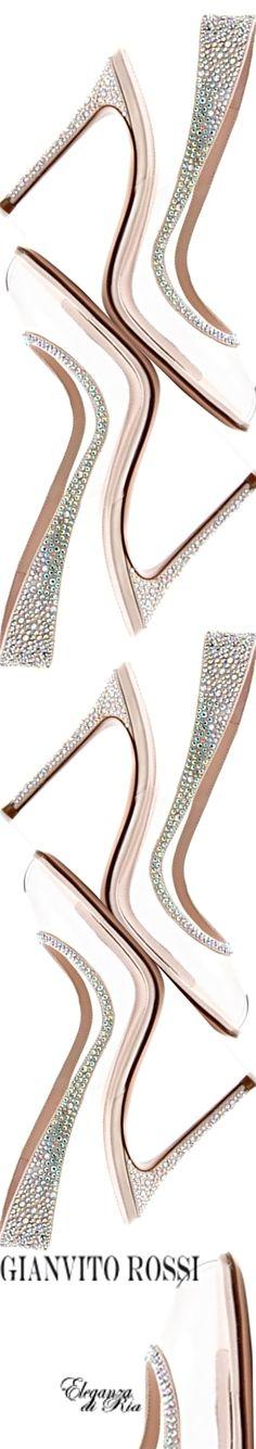 #gianvitorossi #multi #crystal #wedding #heels Gianvito Rossi Multi Crystal Wedding Heels