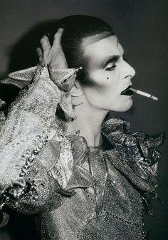 "maliciousglamour: ""David Bowie, 1980 Photographer: Brian Duffy Makeup by Richard Sharah """