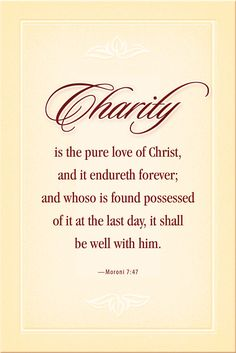 Charity is just the word. It gives more meaning to your life