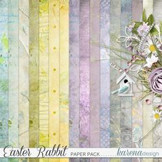 Digital Scrapbooking, Rabbit, Easter, Shop, Collection, Design, Decor, Bunny, Rabbits