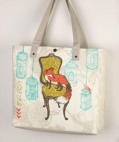 This Fox Birdcage Tote by Peking Handicraft is perfect, $12 !!  #zulilyfinds