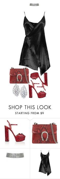 """""""Night out"""" by artiola-fejza ❤ liked on Polyvore featuring Gucci, Boohoo and Lorraine Schwartz"""