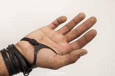 I like having wrist cuffs/partial gloves on characters like Tybalt, Peter, Mercutio Post Apocalyptic Costume, Post Apocalyptic Fashion, Apocalypse Fashion, Post Apocalypse, Dystopian Fashion, Cybergoth, Future Fashion, Leather Cuffs, Mens Fashion
