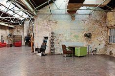 ULF G B☮HLIN • InteriorDesign: HOLLYWOODLAND @ MC MOTORS Castle Gibson, Dalston, London. designmynight.com/london/whats-on.