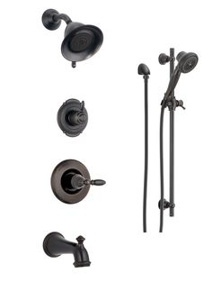 Delta Olmsted Venetian Bronze 2 Handle Widespread Watersense Bathroom Faucet Drain Included