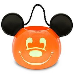 Light-Up Jack O'Lantern Mickey Mouse Trick or Treat Bucket