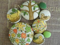 Awesome Spring is here Giant fabric covered button by howbeadyful, $15.00