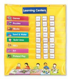 day care pocket chart | ... Early Learning Centers Pocket Chart (LER2910): Office Products