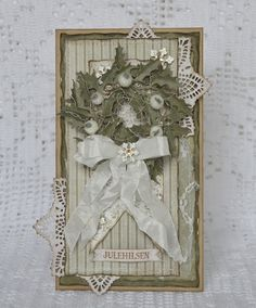 Cathrines hjerte. Christmascard made with papers from Maja Design.