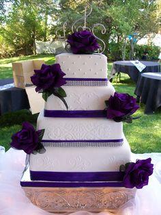 Purple Wedding Cake  cakeyouhappy.com