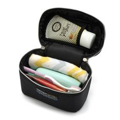 Black Men's Women's Trave Wash Cosmetic Bags Male Double Layer Makeup Cases Toiletry Vanity Organizer Pouch Accessories Supplies