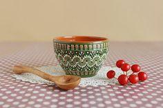 Lithuanian pottery - a small sugar bowl  l