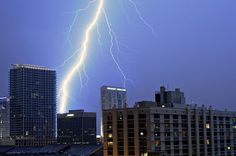 Downtown Orlando Lightning Strike