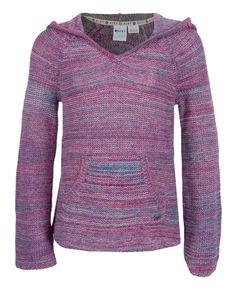 Roxy One Dream Aqua Blue Space Dye Sweater