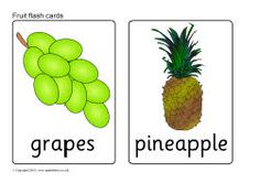 Fruit flash cards (SB8201) - SparkleBox available in British and American versions