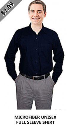 MICROFIBER UNISEX FULL SLEEVE SHIRT Lab Coats, Scrub Jackets, Scrub Sets, Comfortable Fashion, Shirt Sleeves, Scrubs, Unisex, Pocket, Mens Tops