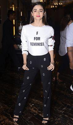 Alia Bhatt in a Gaurav Gupta top & BCBG Max Azaria pants