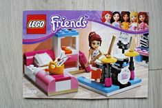 Lego 3939 INSTRUCTION BOOK For Friends Mia's Bedroom #Lego Lego Instruction Books, Bedroom Toys, Lego Instructions, Lego Building, Friends, Ebay, Amigos, Boyfriends