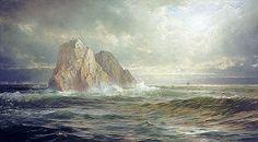 Title: The Skelligs, Coast of Ireland, 1893 Artist: William Trost Richards Medium: Hand-Painted Art Reproduction