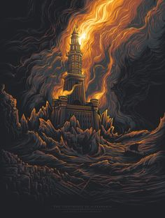 The Lighthouse of Alexandria [The Seven Ancient Wonders] by Dan Mumford