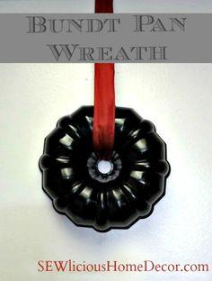 Bundt pan wreath at sewlicioushomedecor.com