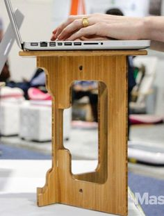 The StandStand is a portable standing desk that you can set up on any tabletop.
