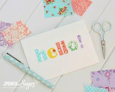 Tutorial: No-sew fabric scrap greeting cards