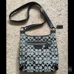 Coach Crossbody Bag Black Coach Crossbody Bag. Adjustable black leather strap. Snap closure. Zipper pocket on outside. Inside has a zipper pocket, cell phone pocket and additional pocket.  Excellent condition. Coach Bags Crossbody Bags