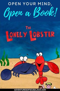 """The story of the Lonely Lobster is the heartwarming tale of an unlikely friendship between two crustaceans: a lobster and a crab. The two are thrust together during a storm and became the best of friends despite the fact that lobsters like to dine on crabs. This surprising bond between predator and prey will leave you wondering, """"Why can't we all just get along?"""" #kidsstorybooks #storybooks #lonelylobster Best Story Books, Kids Story Books, Lobsters, Crabs, Facts For Kids, Predator, Lonely, Bond, Best Friends"""