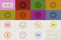 Productivity icons by shonachica on @creativemarket