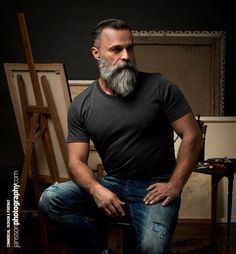 Very distinctive beard.