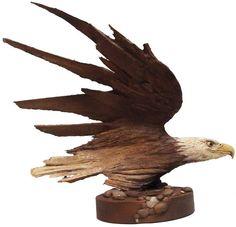 Live Motion - [American.Bald.Eagle] - by.RickCainSculptor