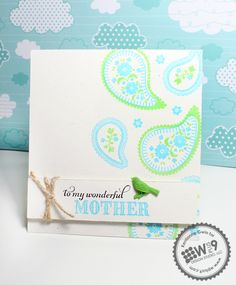 Retro Girly Creative: great colour combo of lime and blue