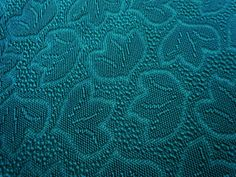 Perfect Vintage Frieze Upholstery Fabric   Lovely Dark Green Color, Leaf Design