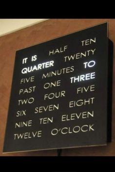Cool clock!