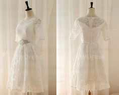 alencon lace short sleeve wedding dresses,lace short bridal gowns,beaded waistband wedding gowns,lace prom dress