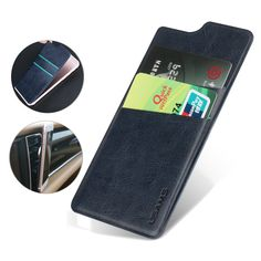 USAMS US-ZB013 Adhesive Sticker PU Leather Card Slot Sticker Card Pouch Holder For iPhone 6 Plus & 6s Plus