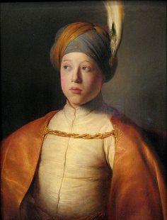 Young Man in a Turban Jan Lievens Dutch, 1607-1674