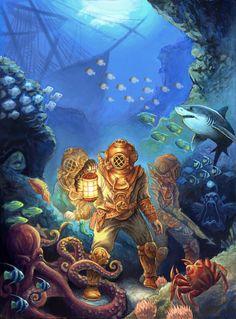 20000 leagues under the sea | 20,000 leagues under the sea by ~GoldenDaniel on deviantART
