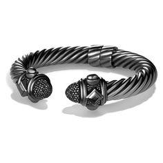 Women's David Yurman 'Renaissance' Bracelet with Diamonds ($3,385) ❤ liked on Polyvore featuring jewelry, bracelets, black diamond, diamond jewelry, renaissance jewelry, david yurman jewellery, bracelet bangle and david yurman bangle