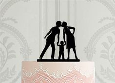 Lesbian wedding cake topper with small boy Bride in a suit cake topper 2 brides kissing cake topper Personalized Cake Toppers, Custom Cake Toppers, Custom Cakes, Wedding Kiss, Lesbian Wedding, Our Wedding, Wedding Cake Decorations, Wedding Cake Toppers, Wedding Cakes