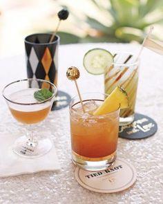 mismatching vintage barware for a fresh cocktail hour twist