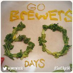 60 days until Opening Day! Milwaukee Brewers, Baseball, Baseball Promposals