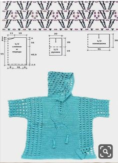 crochelinhasagulhas: Green crochet blouse The Effective Pictures We Offer You About crochet stitches A quality picture can tell you many things. Slip Stitch Crochet, Crochet Tunic Pattern, Gilet Crochet, Crochet Shirt, Crochet Jacket, Easy Crochet, Crochet Stitches, Knit Crochet, Crochet Patterns