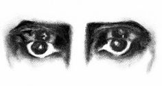 """This photo represents the """"eyes"""" watching Macbeth's every move and causing his madess. They also represent Macbeth, in the way the one set of eyes are clear, open and healthy saying he's sane and has his eyes set on a proper goal, but as the plot progresses his eyes (representing him as a person) turn dark, thin, and unhealthy."""