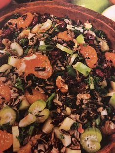 Magnetic wild rice salad