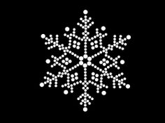 HotFix Diamante Snow Flake Winter Transfer iron on motif for t-shirts bags -No13