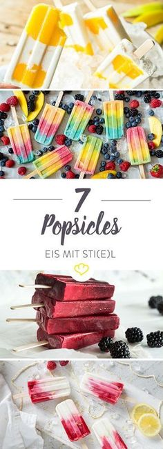 Popsicle Rezepte: 11 Ideen für Eis am Stiel - ohne Eismaschine Your summer will be cool - pretty cool even. No, not because oh so cool wannabe musicians are honoring themselves, but because a lo Summer Desserts, No Bake Desserts, Dessert Recipes, Cool Desserts, Summer Recipes, Mango Recipes, Cream Recipes, Baby Food Recipes, Sweet Recipes